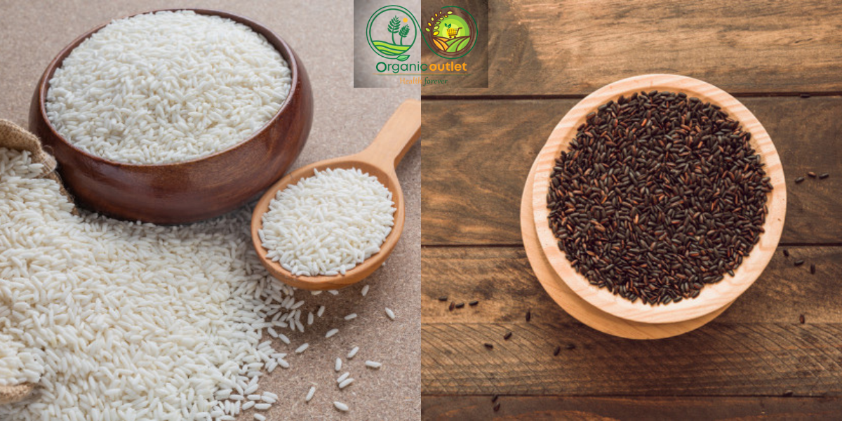 Differences between black rice and white rice
