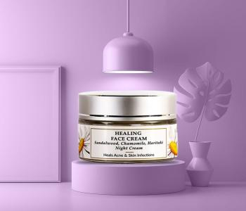Organic & Natural - Sandalwood Healing Night Cream - Oily & Infection Prone Skin