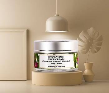 Organic & Natural - Palmarosa Hydrating Day Face Cream with Vitamen E - Extremely Dry Skin
