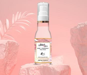 Organic and Natural - Dry Skin Face Toner - Rose