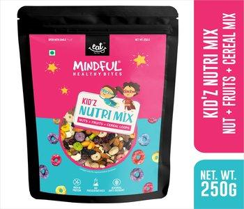 EAT Anytime Mindful Healthy Trail Mix Snack for Kids with Protein Rich Mix Nuts, Oat & Fruit Loops, 250g