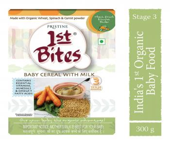 1st Bites - Wheat, Spinach & Carrot Powder (10 Months - 24 Months) Stage - 3