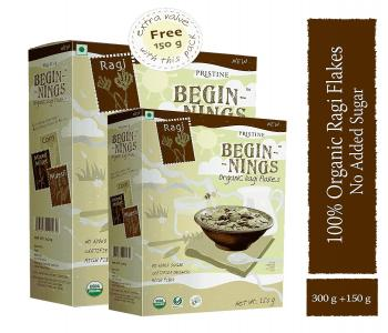 Beginnings Organic Ragi Flakes (150 gm free)